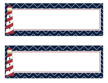 Nautical Desk Nameplates