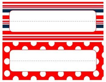 Nautical Desk Nameplates / Nametags