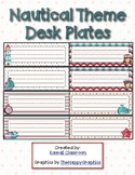 Nautical Desk Plates