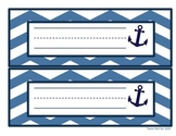 Nautical Desk Tags