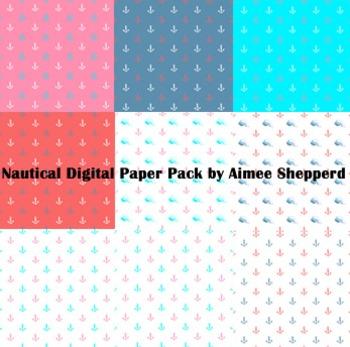 Nautical Digital Paper Set