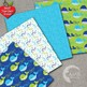 Nautical Digital Papers, Whales Papers Green and Blue Whales, AMB-1595