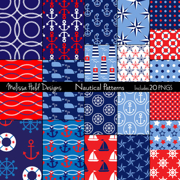 Nautical Digital Patterns