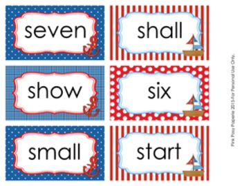 Nautical Dolch 3rd Grade Sight Wall Words