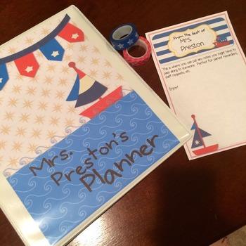 Nautical Theme Teacher Lesson Planner