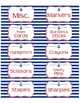 """Supplies Drawer Labels in Nautical Anchor theme - 4""""x2"""""""
