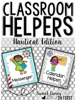 Classroom Jobs Nautical Edition EDITABLE