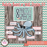 Nautical Eight Parts of Speech Bulletin Board or Wall Display