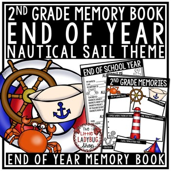 Nautical End of The Year Activities 2nd Grade- Memory Book