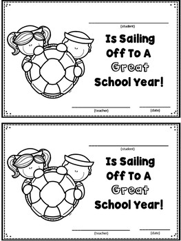 Nautical First Day Certificates FREE