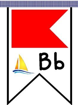 Nautical Flag Banner - Manuscript Alphabet