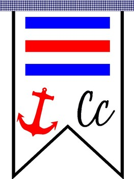Nautical Flag Cursive Alphabet Banner