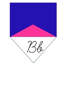 Nautical Flags Cursive Pennants (Pink and Blue)