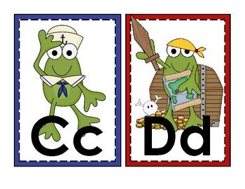 Nautical Frogs Alphabet