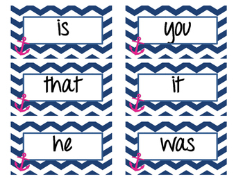 Nautical Fry First 100 Sight Words
