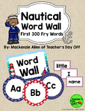 Nautical Fry Word Wall {Editable}