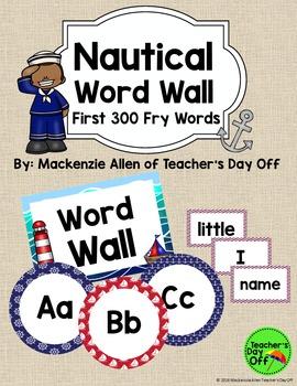 Nautical Fry Word Wall {Editable}