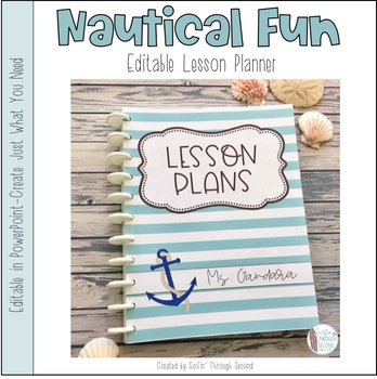 nautical fun editable teacher binder lesson planner 2018 2019 free
