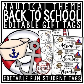 Nautical Gift Tags EDITABLE  • Nautical Back to School