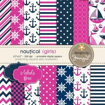 Nautical Sailing Digital Papers