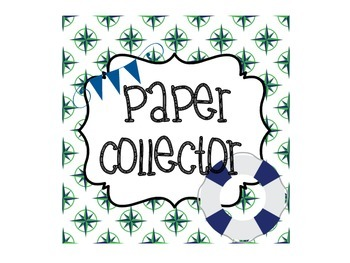 Nautical Green and Navy Classroom Decor Pack