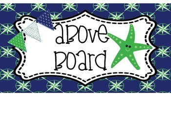 Nautical Green and Navy Clip Chart
