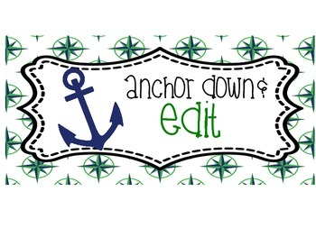 Nautical Green/Navy Writing Process
