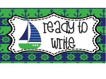 Nautical Green/Navy Writing Process