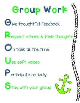 Nautical Group Work Poster