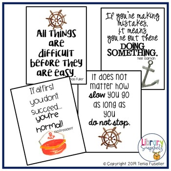 Nautical Growth Mindset Posters