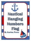 Nautical Hanging Numbers Flags Classroom or Party Theme Pr
