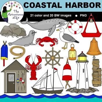 Nautical Harbor Clip Art