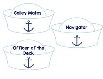 Classroom Jobs Nautical -Editable