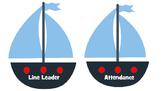 Nautical Job Chart Classroom Assignments Bulletin Board Sa