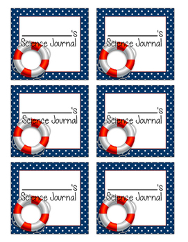 Nautical Journal Labels