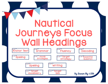 Nautical Journeys Focus Wall Headings