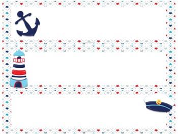 Nautical Kids Nameplates
