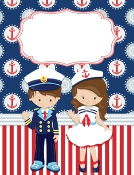 Nautical Kids Spanish Decor Pack