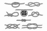 Nautical Knots SVG, Sea Knots files for Silhouette Cameo and Cricut
