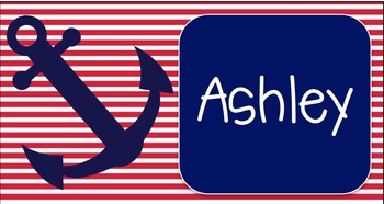 Nautical Labels/ Name Tags