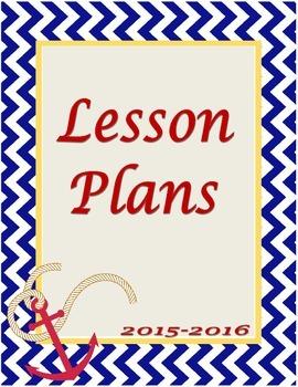 Nautical Lesson Plan Binder Cover Sheet