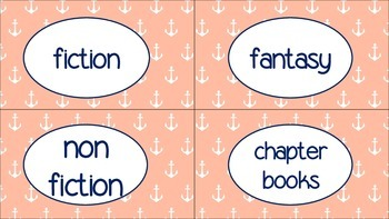 Nautical Library Labels