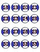 Nautical Life Preserver Numbered Circle Labels