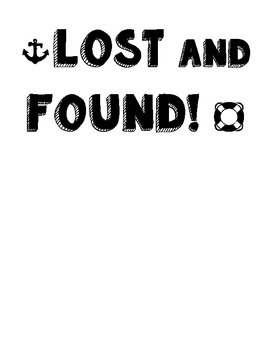 Nautical Lost and Found Sign