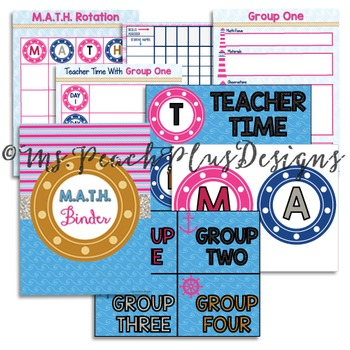 Nautical M.A.T.H. Binder and Display Bundle