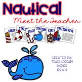 Nautical Meet the Teacher Stations {Editable}