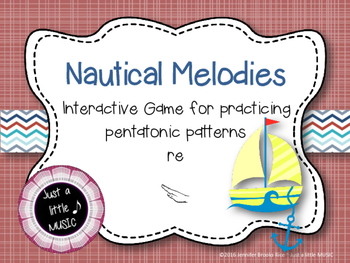 Nautical Melodies--Interactive Melody Reading Practice Game {pentatonic}