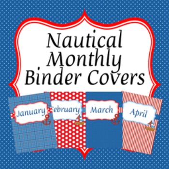 Nautical Monthly Binder Covers and Spines