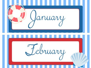 Nautical Months of the Year