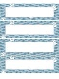 Nautical Name Plates - Editable!